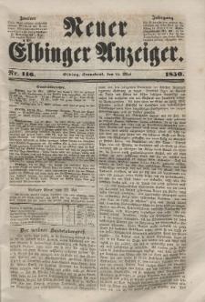 Neuer Elbinger Anzeiger, Nr. 146. Sonnabend, 25. Mai 1850