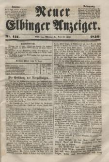 Neuer Elbinger Anzeiger, Nr. 151. Mittwoch, 12. Juni 1850