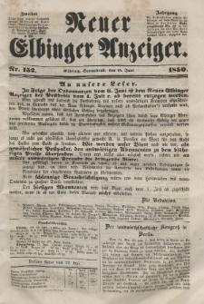 Neuer Elbinger Anzeiger, Nr. 152. Sonnabend, 15. Juni 1850