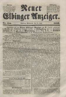 Neuer Elbinger Anzeiger, Nr. 155. Mittwoch, 26. Juni 1850