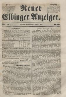 Neuer Elbinger Anzeiger, Nr. 164. Sonnabend, 27. Juli 1850