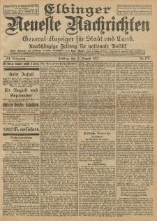 Elbinger Neueste Nachrichten, Nr. 179 Freitag 2 August 1912 64. Jahrgang