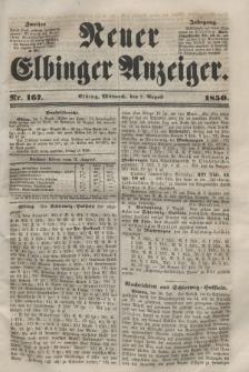 Neuer Elbinger Anzeiger, Nr. 167. Mittwoch, 7. August 1850