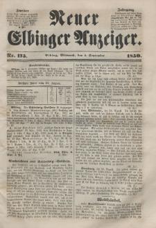 Neuer Elbinger Anzeiger, Nr. 175. Mittwoch, 4. September 1850