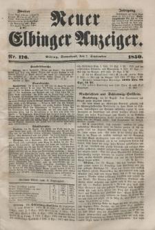Neuer Elbinger Anzeiger, Nr. 176. Sonnabend, 7. September 1850