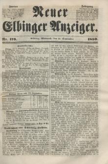 Neuer Elbinger Anzeiger, Nr. 179. Mittwoch, 18. September 1850