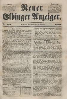 Neuer Elbinger Anzeiger, Nr. 185. Mittwoch, 9. Oktober 1850