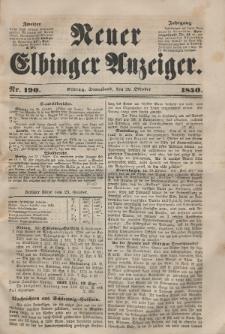 Neuer Elbinger Anzeiger, Nr. 190. Sonnabend, 26. Oktober 1850