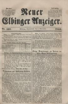 Neuer Elbinger Anzeiger, Nr. 192. Sonnabend, 2. November 1850