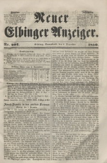Neuer Elbinger Anzeiger, Nr. 202. Sonnabend, 7. Dezember 1850