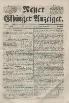 Neuer Elbinger Anzeiger, Nr. 204. Sonnabend, 14. Dezember 1850