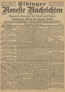 Elbinger Neueste Nachrichten, Nr. 183 Mittwoch 7 August 1912 64. Jahrgang