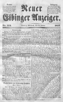 Neuer Elbinger Anzeiger, Nr. 213. Mittwoch, 15. Januar 1851