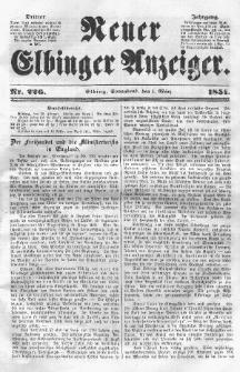 Neuer Elbinger Anzeiger, Nr. 226. Sonnabend, 1. März 1851