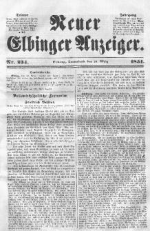 Neuer Elbinger Anzeiger, Nr. 234. Sonnabend, 29. März 1851
