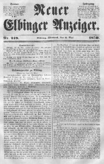 Neuer Elbinger Anzeiger, Nr. 249. Mittwoch, 21. Mai 1851