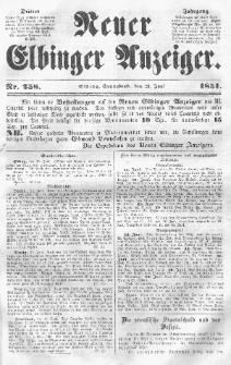 Neuer Elbinger Anzeiger, Nr. 258. Sonnabend, 21. Juni 1851