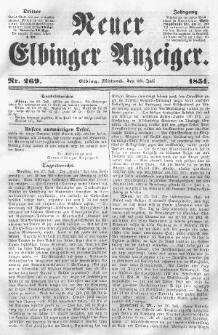 Neuer Elbinger Anzeiger, Nr. 269. Mittwoch, 30. Juli 1851
