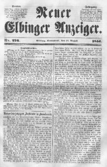 Neuer Elbinger Anzeiger, Nr. 276. Sonnabend, 23. August 1851