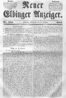 Neuer Elbinger Anzeiger, Nr. 295. Mittwoch, 29. Oktober 1851