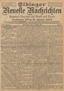 Elbinger Neueste Nachrichten, Nr. 192 Sonnabend 17 August 1912 64. Jahrgang