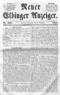 Neuer Elbinger Anzeiger, Nr. 307. Mittwoch, 10. Dezember 1851
