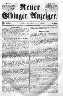 Neuer Elbinger Anzeiger, Nr. 318. Sonnabend, 17. Januar 1852