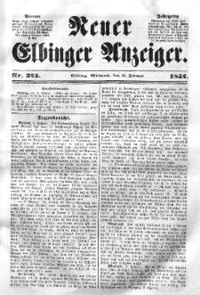 Neuer Elbinger Anzeiger, Nr. 325. Mittwoch, 11. Februar 1852
