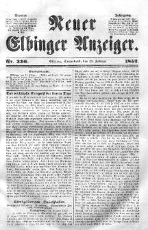 Neuer Elbinger Anzeiger, Nr. 330. Sonnabend, 28. Februar 1852