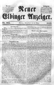 Neuer Elbinger Anzeiger, Nr. 334. Sonnabend, 13. März 1852