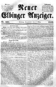 Neuer Elbinger Anzeiger, Nr. 338. Sonnabend, 27. März 1852
