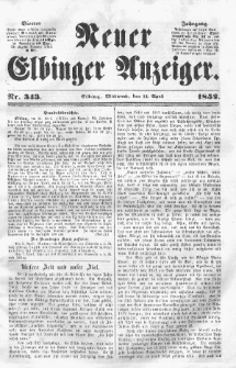 Neuer Elbinger Anzeiger, Nr. 343. Mittwoch, 14. April 1852