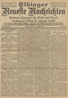 Elbinger Neueste Nachrichten, Nr. 197 Freitag 23 August 1912 64. Jahrgang