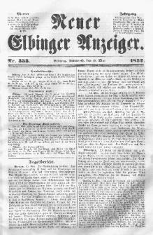 Neuer Elbinger Anzeiger, Nr. 353. Mittwoch, 19. Mai 1852