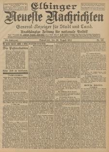 Elbinger Neueste Nachrichten, Nr. 198 Sonnabend 24 August 1912 64. Jahrgang