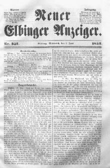 Neuer Elbinger Anzeiger, Nr. 357. Mittwoch, 2. Juni 1852
