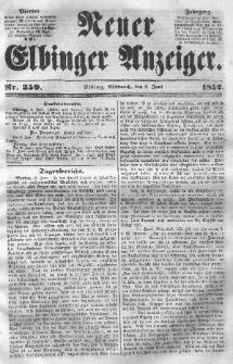 Neuer Elbinger Anzeiger, Nr. 359. Mittwoch, 9. Juni 1852