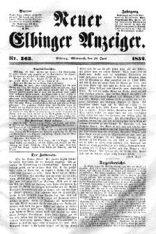 Neuer Elbinger Anzeiger, Nr. 363. Mittwoch, 23. Juni 1852