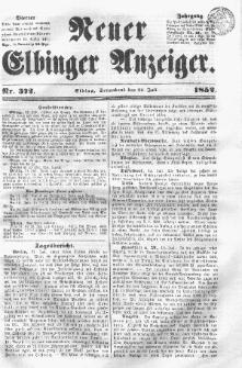 Neuer Elbinger Anzeiger, Nr. 372. Sonnabend, 24. Juli 1852