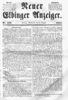 Neuer Elbinger Anzeiger, Nr. 379. Mittwoch, 18. August 1852
