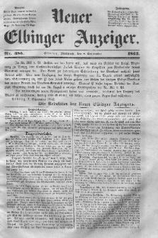 Neuer Elbinger Anzeiger, Nr. 385. Mittwoch, 8. September 1852