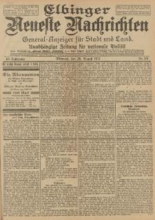 Elbinger Neueste Nachrichten, Nr. 201 Mittwoch 28 August 1912 64. Jahrgang