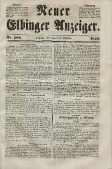 Neuer Elbinger Anzeiger, Nr. 398. Sonnabend, 16. Oktober 1852