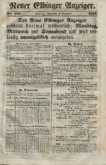 Neuer Elbinger Anzeiger, Nr. 424. Mittwoch, 15. Dezember 1852