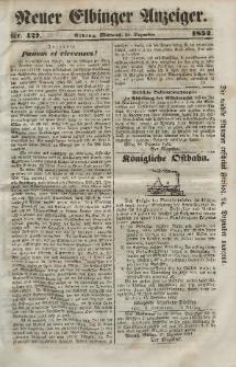 Neuer Elbinger Anzeiger, Nr. 427. Mittwoch, 22. Dezember 1852