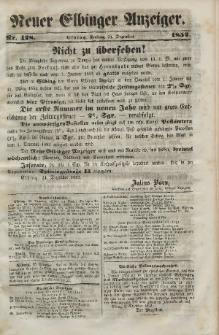 Neuer Elbinger Anzeiger, Nr. 428. Freitag, 24. Dezember 1852