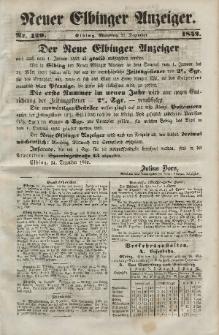 Neuer Elbinger Anzeiger, Nr. 429. Montag, 27. Dezember 1852