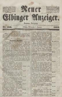 Neuer Elbinger Anzeiger, Nr. 589. Mittwoch, 4. Januar 1854