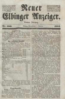 Neuer Elbinger Anzeiger, Nr. 590. Sonnabend, 7. Januar 1854