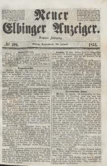 Neuer Elbinger Anzeiger, Nr. 599. Sonnabend, 28. Januar 1854